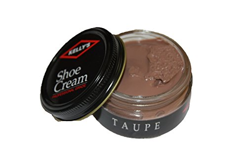 Made in USA Kelly's Shoe Cream Leather Polish many colors available. (Taupe Cream)