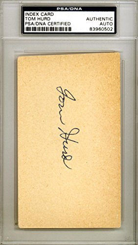 Tom Hurd Autographed Signed 3x5 Index Card Boston Red Sox #83960502 PSA/DNA Certified MLB Cut Signatures