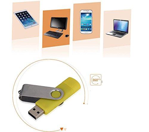 westeng 4/8/16/32/64GB USB Flash Drive USB 2.0 Memory Stick USB Stick disco OTG práctico para teléfono móvil y ordenador amarillo amarillo 32 gb: Amazon.es: ...