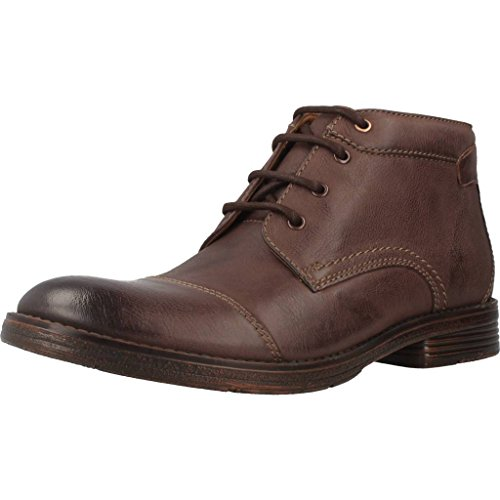 Clarks Détente Habillé Homme Boots/Bottes Devington Cap En Cuir Marron