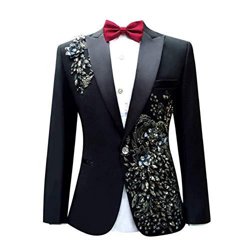 Le Chic Homme Prom Mode Mariage La De Schwarz Pattern Cocktail Costume Blazer Party Tuxedo ZSFwBZxqp