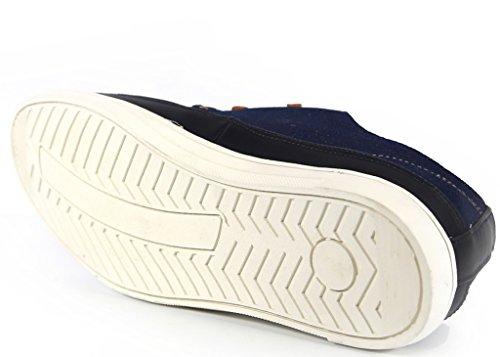 Giraldi Matan Zapatillas Bajas De Mezclilla En Denim Para Hombre, Azul Marino Denim