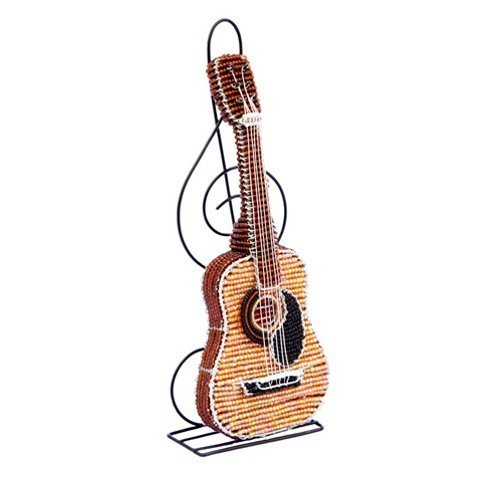 Beadworx Grass (Grass Roots Creations Colored Acoustic Guitar Beadworx Sculpture, Multi)