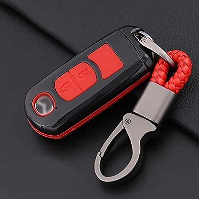 CX-9 RX8 MX5 MX-5 Protecci/ón Llaveros Mando a Distancia CX-7 BT50 Funda de Silicona para Llave Mazda Rojo 6 CX-5 Cover Carcasa de TPU Cromo Suave para Mazda 3//5