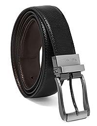 Steve Madden - Cinturón de piel reversible para hombre