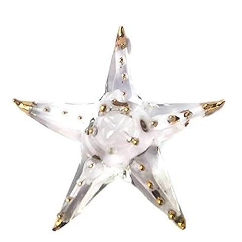 Ornament Animal Fish Hand Miniature Crystal Art Starfish Blown Glass Figurine - Crystal Fish Figurine