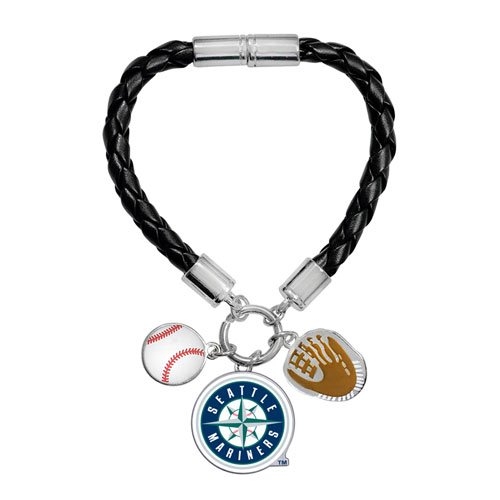 Game Time Offical MLB SEATTLE MARINERS Charm Bracelet