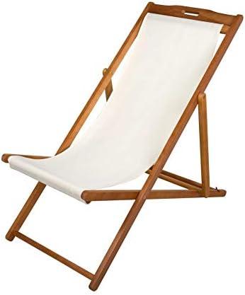 Aktive 61027 - Tumbona plegable de madera acacia Garden 59 x 100 x 94 cm