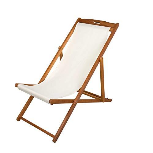 🥇 Aktive 61027 – Tumbona plegable de madera acacia Garden 59 x 100 x 94 cm