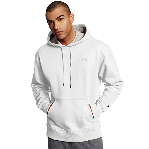 Champion Men's Powerblend Pullover Hoodie, White, XX-Large