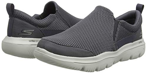 Skechers Men's GO Walk Evolution Ultra-Impeccable Sneaker, Charcoal, 9