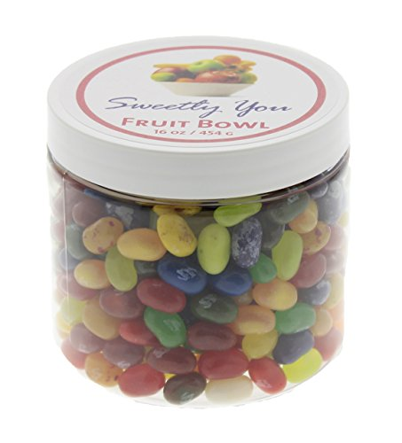 Jelly Belly 1 LB Fruit Bowl Flavors Assorted Beans. (One Pound, 1 Pound) Bulk Jelly Beans in a resealable and reusable jar.
