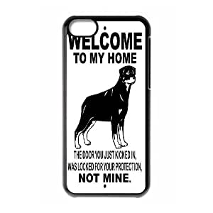 GTROCG Rottweiler dog Phone Case For Iphone 5C [Pattern-5]