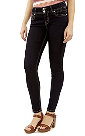 WallFlower Juniors Luscious Curvy Skinny Jeans in Elle Size:0