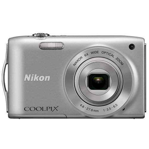 Nikon Coolpix S3200 16.0 Mp 6x Wide Optical Zoom Digital Camera (Silver) For Sale