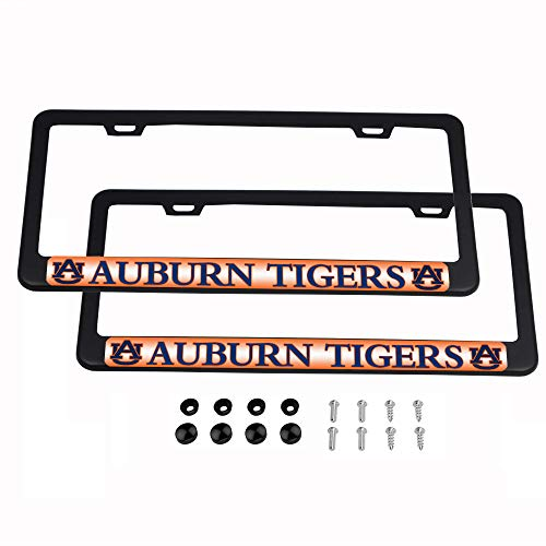 - CHNNFC NCAA 2 Pack Luxury Stainless Steel License Plate Frame (Auburn Tigers)
