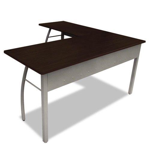 Linea Italia TR737MOC Trento Line L-Shaped Desk, 59.12 by 59.12 by 29.5-Inch, Mocha/Gray ()