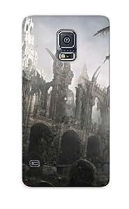 Fywhbwn456sTFbV Trolleyscribe Church Ruins Durable Diy For SamSung Galaxy S5 Case Cover Hard Flexible Soft With Diy