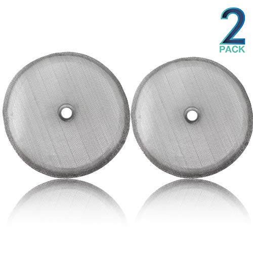 "Replacement French Press Filter Screens - (Pack of 2) Universal 4"" Diameter, Food Grade 18/8 (304) Reusable Stainless Steel Coffee Filter Mesh, Compatible with Bodum French Press Coffee Makers"