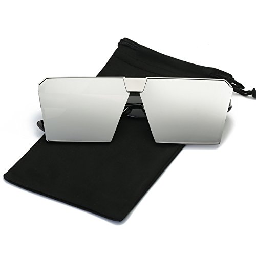 LKEYE - Unique Oversize Shield Vintage Square Sunglasses LK1705  INCLUDES: Sunglasses * 1 Soft Microfiber Pouch * 1 Soft Glasses Cloth * 1  HOW TO CARE To avoid damage, never clean your sunglasses with paper towels or clothing, and also avoid using h...