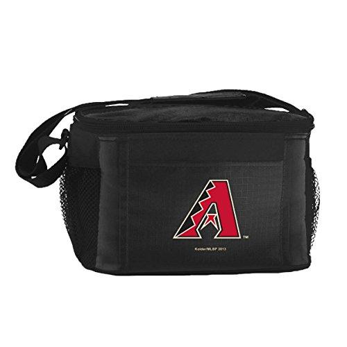 Kolder MLB 6 Can Cooler Bags - Arizona Diamondbacks Black - Insulated Lunch Box or Tote
