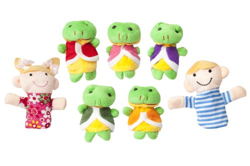 Five Little Speckled Frogs Nursery Rhyme Finger Puppet Educational & (Nursery Rhymes Frogs)