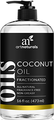 ArtNaturals Premium Fractionated Coconut Oil - (16 Fl Oz / 473ml) - 100% Natural & Pure – Therapeutic Grade Carrier and Massage Oil – for Hair and Skin or Diluting Aromatherapy Essential Oils by ArtNaturals
