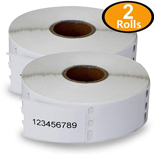 2 Rolls DYMO 30347 Compatible 1 x 1-1/2(25mm x 38mm) Book Spine Labels,Compatible with Dymo 450, 450 Turbo, 4XL and Many More