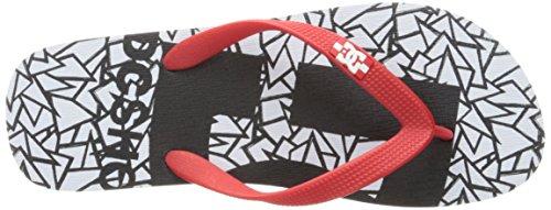 DC Männer Spray Graffik M 3 Point Sandal, EUR: 47, White/Black/Athletic Red