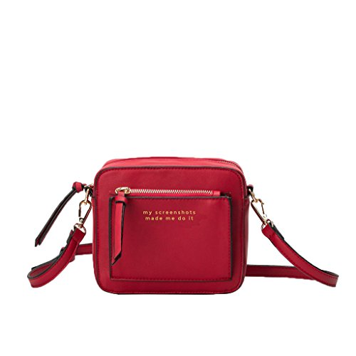 Melie Bianco My Screenshots Made Me Do It Evan Quote Vegan Leather Mini Crossbody, Red ()