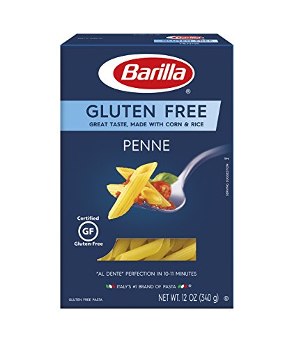 Barilla Gluten Free Pasta, Penne, 12 Ounce (Pack of 8)