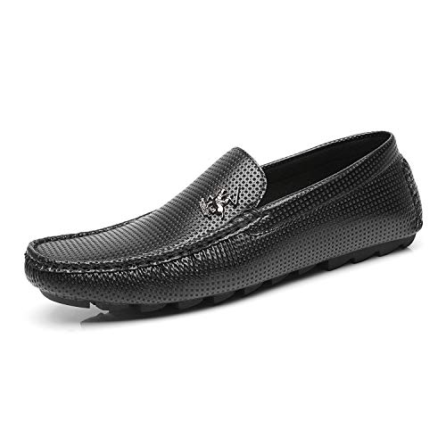 Beverly Hills Polo Club Men's Driving Shoes Slip-on Loafer Moccasin Textured Casual Lightweight Flat Boat Shoes for Men