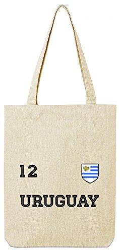 ShirtStreet Wappen Fußball WM Fanfest Gruppen Premium Bio Baumwoll Tote Bag Jutebeutel Stanley Stella Trikot Uruguay Natural 4Fy4sKCn