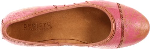 Bed Stu Womens Step Coral Flat