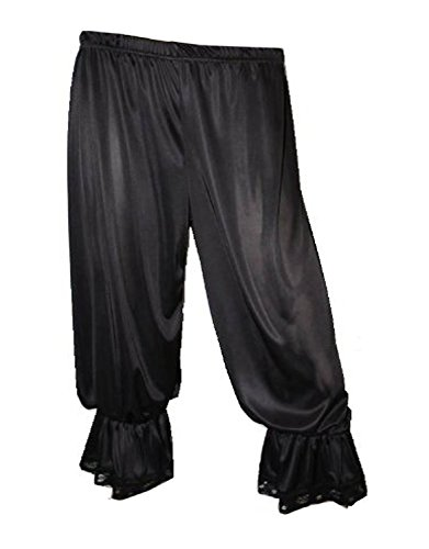 Black Costume Fancy Dress Long Bloomers (XXL) (Costume Pantaloons)