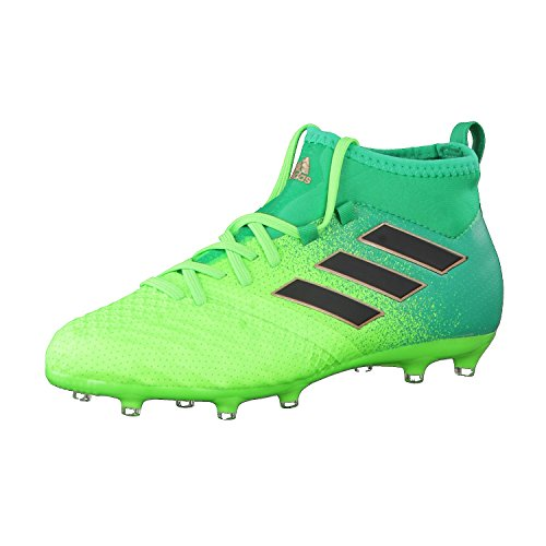 adidas Ace 17.1 Fg J, para los Zapatos de Entrenamiento de Fútbol Unisex Niños, Verde (Verde Versol/Negbas/Verbas), 36 EU