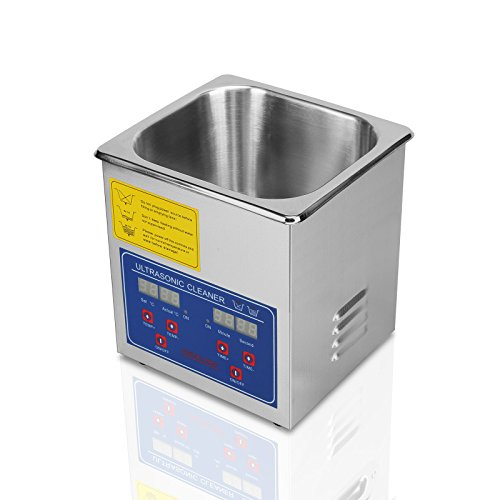 FoodKing Ultrasonic Cleaner Ultrasonic Cleaner Jewelry Ultrasonic Jewelry Eyeglass Commercial Industrial with Digital Heater Timer (1.3 Liter) by FoodKing (Image #3)