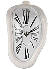FAREVER Melting Clock, Salvador Dali Watch Melted Clock for Decorative Home Office Shelf Desk Table Funny Creative Gift