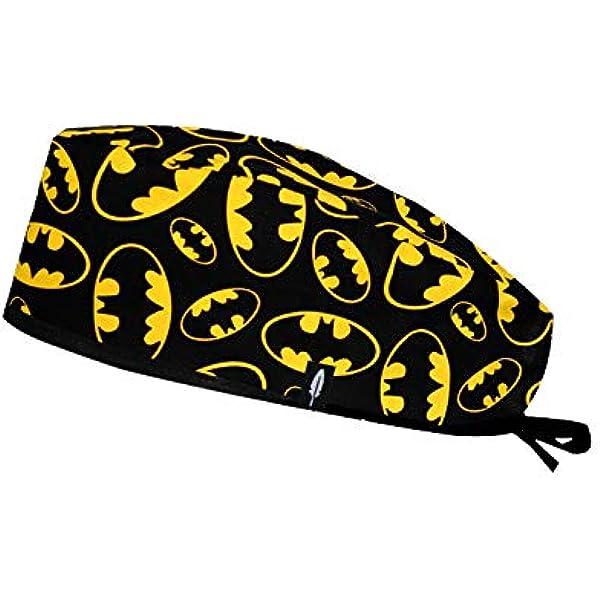 Robin Hat - Gorro de Quirófano Modelo: Batman - Pelo Corto - 100% Algodón (autoclave) - Tamaño Ajustable.: Amazon.es: Salud y cuidado personal