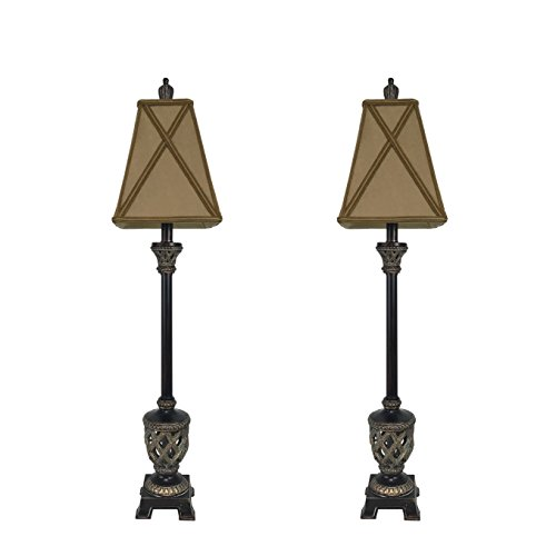 (Set of 2 -- MESTAR 35-inch Traditional Bronze Buffet Lamps Table Lamp Set for Living Room)