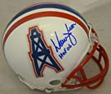 Warren Moon Autographed Houston Oilers Riddell Mini Helmet