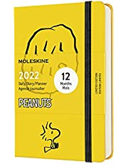 """Moleskine Limited Edition Peanuts 12 Month 2022 Daily Planner, Hard Cover, Pocket (3.5"""" x 5.5""""), Yellow"""