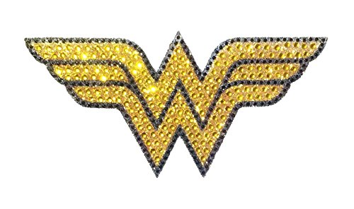 DC+Comics Products : DC Comics CH WW LOGO001 Crystal Studded Wonder Woman Bling Logo Car Window Sticker Decal