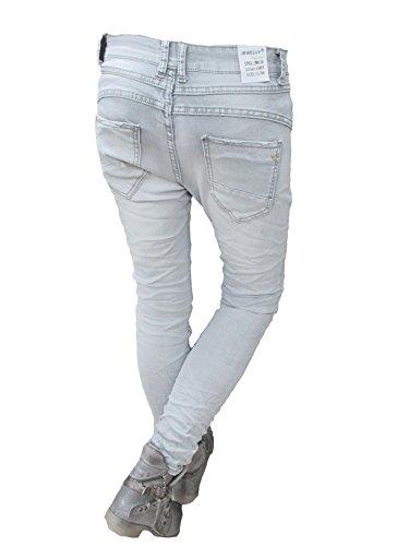 boutonnage copain Jeans Jewelly clair femmes de fermeture Baggy OBLIQUES AUTRE Gris Patte Front LEXXURY COULEURS Btfwx8Uaxq