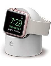 elago Supporto W2 Nero - Compatibile con la Gestione dei Cavi in modalità Comodino in Silicone Senza Graffi - per Apple Watch Serie 1 2 3 e 4