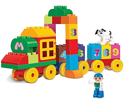webby classic train numbers building block toy set, 63 pcs  Multi color