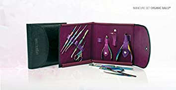 Amazon.com : Manicure Set Organic Nails Titanium : Beauty