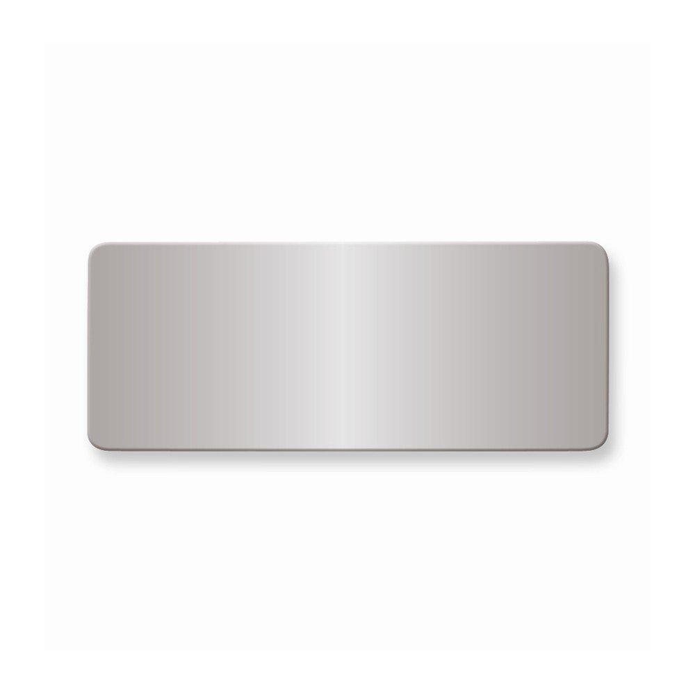 1 X 2 1/2 Polished Alum Plates-Sets of 6