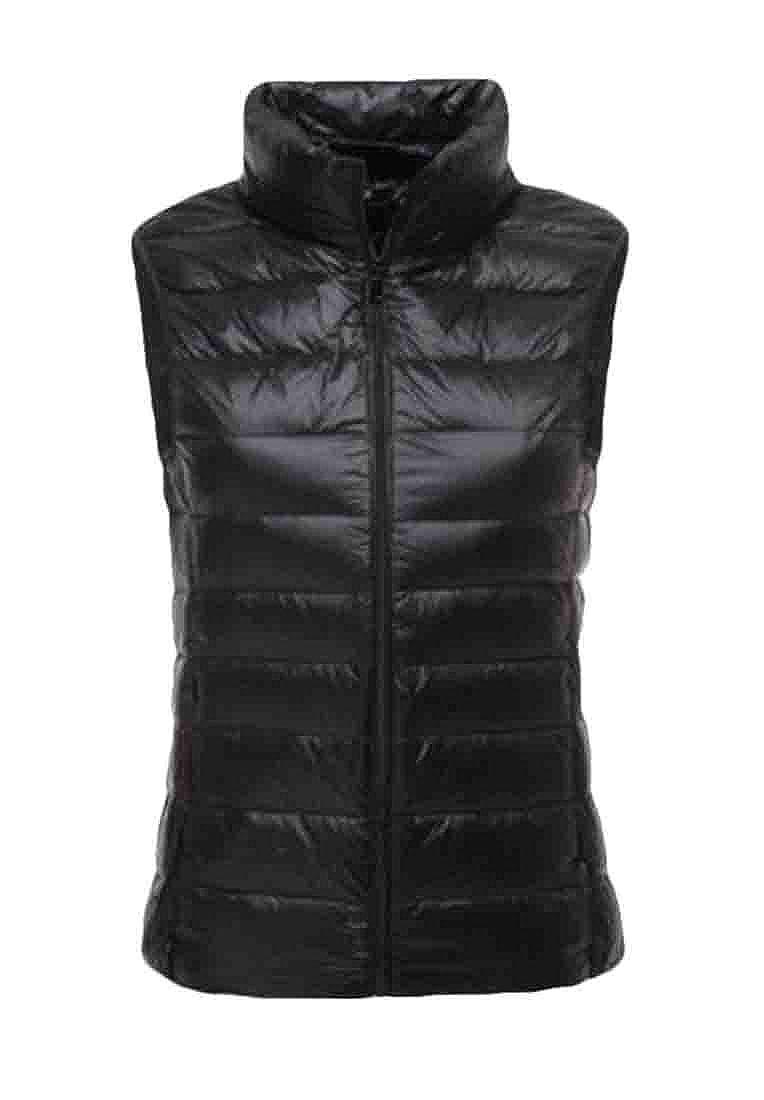 UUYUK Women Thin Plus Size Plus Size Lightweight Stand Collar Puffer Vest