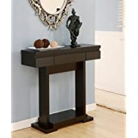 ioHOMES Eastridge Console Table with Storage Drawer, Cappuccino Finish
